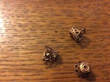 Bronze plated bead cones approx 9mm  x 50  pack  Lb