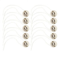 10PCS GU10 Socket LED Bulb Halogen Lamp Holder Base Ceramic Wire Connector Hot