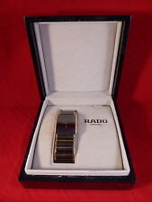 "RADO ""DiaStar"" JUBILE WRIST WATCH WITH 42 ROUND CUT DIAMONDS & CASE"