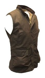 Waistcoat Countrywear Gilet for Men Wax Bodywarmer by Walker & Hawkes - Brown