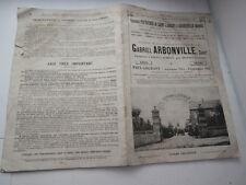catalogue Gabriel ARBONVILLE (vialle) saint laurent près Mézières ardennes 1934