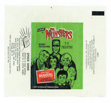 THE MUNSTERS GUM CARD WRAPPER SPOOK HAND AD LEAF 1964