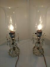 New listing Antique Crystal Buffet/Boudoir Lamp with Prisms