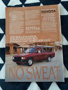 1984 Toyota Standard Bed (HiLux) Pickup USA Original Magazine Advertisement