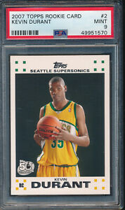 2007 Topps Rookie Card #2 Kevin Durant RC PSA 9