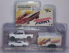 1/64 Greenlight Vanishing Point 1971 Dodge Challenger 2018 Ram 2500 00006000  Chase Car