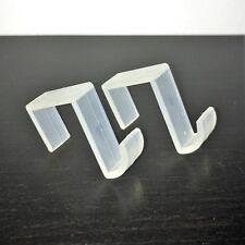 Fensterhaken Türhaken Dekohaken transparent Kunststoffhaken
