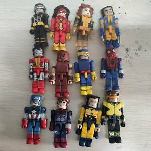 Lot 12 Marvel Minimates Spiderman Wolverine Captain Spider-woman Juggernaut