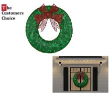 Christmas Wreath LED Lights Holiday Outdoor Indoor Decorations Garland Ideas
