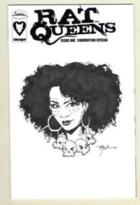 Rat Queens 1 NYCC Sketch Blank Variant w/ Dee Sketch by Roc Upchurch!