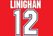 Linighan #12 Arsenal 1995-1996 Home Football Nameset for shirt