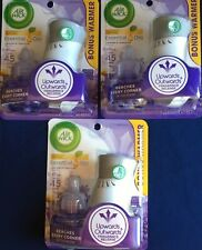 Air Wick Pure Scented Oil Starter Pack Lavender Chamomile Lot of 3