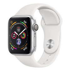 Apple Watch Series 4 44 mm Silver Aluminum Case with White Sport Band (GPS) - (M
