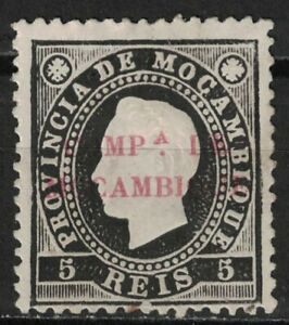 MOZAMBIQUE COMPANY:1892 SC#1 MH King Luiz X99