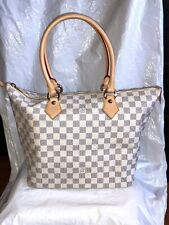 Authentic Louis Vuitton Damier Azur Saleya MM Bag