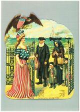 Jewish Immigrants and Lady Liberty 1909 Patriotic Repro Postcard