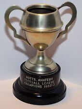 Notts. fútbol aficionado campeones de liga 1952-3 taza pequeña de metal/Trofeo