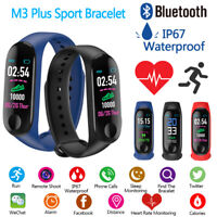 M3 Plus Band Bluetooth Smart Watch Heart Rate Fitness Tracker Bracelet Wristband