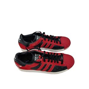 Vintage Y2K Adidas Mens Size 10.5 Chicago Bulls Red Suede Low Top Sneakers...