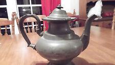 WM McQuilkin C 1845 Pewter Coffee Tea Pot Philadelphia PA
