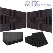 "24x Acoustic Music Room Wall Panels Sound Proofing Foam Pads Studio Decor 12x12"""