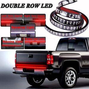"60"" Double Row LED Truck Tailgate Light Bar Strip Red White Reverse Stop Brake"