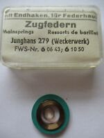 JUNGHANS Feder 2,50 mm Aufzugfeder Zugfeder Uhr Wecker Reisewecker clock spring