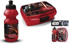 Star Wars Trinkflasche und Brotdose Set Lunchbox+Bottle Brotzeitdose mit Flasche