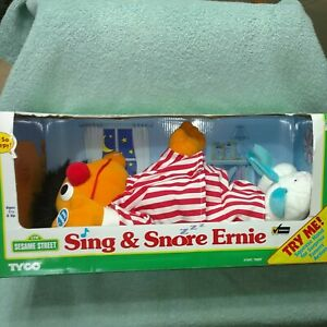 Tyco Sesame Street Sing & Snore Ernie Toy doll NIB Working