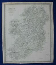 IRELAND, original antique map, SDUK, published in 1844