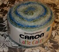 NEW CARON LATTE CAKES Mineral Vineyard Blue Yarn Bulky 250g Acrylic Nylon 029 B