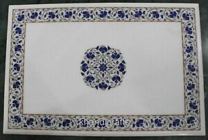 Marble Office Meeting Table Top Hand Inlay Work Dining table Size 30 x 48 Inches