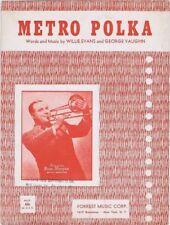Metro Polka,  Russ Morgan Photo 1951, Vintage Sheet Music