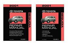 2001 Toyota Sequoia Shop Service Repair Manual Book Engine Drivetrain OEM