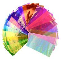 24pcs Thin Iridescent Cellophane Holographic Shattered Broken-Glass Nail Art