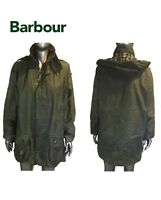 Barbour Beaufort Waxed Cotton Zip Jacket Plaid Lined Mens Size C 42/ 107cm
