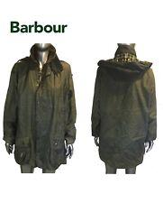 Barbour Beaufort Waxed Cotton Zip Jacket Plaid Lined Mens Size C 42/ 107cm