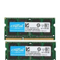 Crucial 16GB 2x 8 GB PC3-12800s Laptop SODIMM DDR3-1600 CL11 Speicher 1,5 V RAM