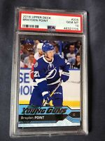 2016 Upper Deck Young Guns #205 Brayden Point RC Rookie PSA 10 Gem Mint