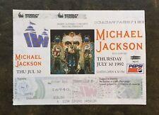 Rare Unused Michael Jackson Dangerous Wembley Concert Tickets  - July 30th 1992