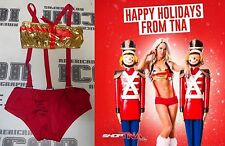 Angelina Love 2x Signed TNA Knockout Photo Shoot & Ring Worn Outfit PSA/DNA COA
