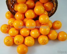 100Fake Mini Orange Artificial Fruit Faux Food House Kitchen Wedding Party Decor