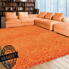 SMALL AND LARGE BED SHAGGY RUG LIVING ROOM RUGS THICK PLAIN SOFT BULKY ANTISKID