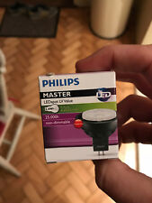 "Philips Master LED Spotlight  Bulb LV 3.4w > 20W 220Lm 220 Lumen 12v 24"" GU5"