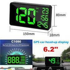 GPS Speedometer Green LED Car HUD Head Up Display Overspeed Warning System Alarm