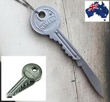 Key Knife Folding Stainless Keychain Keyring Pocket EDC Blade Multi Tool Peeler