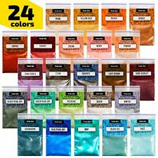 Epoxy Resin Dye - Mica Powder - 24 Powdered Pigments Set - Soap Dye.