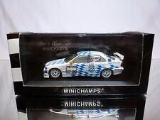 MINICHAMPS BMW 320i E36 STW 1997 - LEOPOLD V. BAYERN WHITE 1:43 RARE - EXCELLENT