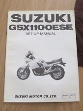 Original factory Set-up Manual Suzuki GSX1100ESE  Marche 1984