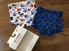 NEW NIP Hanna Andersson Boy Training Underwear 2 pack Unders Briefs Superman XS